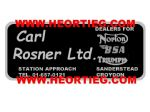 Carl Rosner Motorcycles Croydon Dealer Decals Transfers  DDQ52